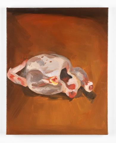 Sara Knowland. Chicken. 2013. Oil on canvas.
